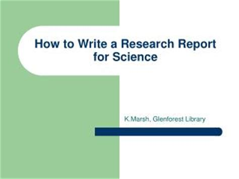 PowerPoint 3: Preparing to Write a Report